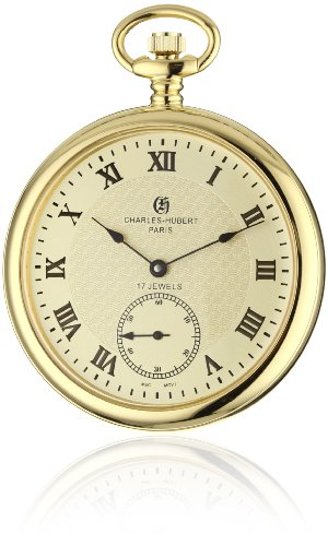 Charles-Hubert, Paris Premium Collection Stainless Steel Pocket Watch