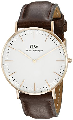 Daniel Wellington Women's Classic Bristol Analog Display Quartz Brown Watch