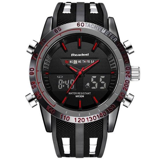 Luxury Brand Watches Men Sports Watches Waterproof LED Digital Quartz
