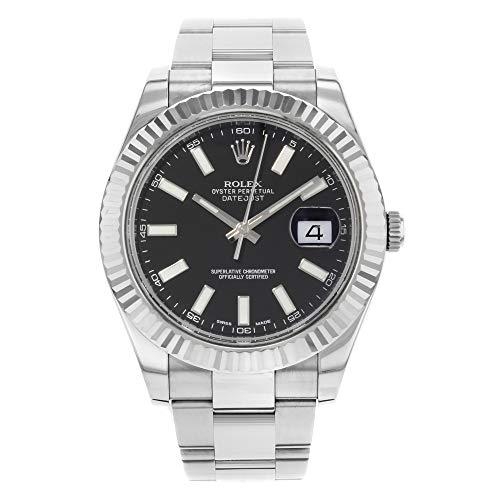 Rolex Datejust Black Dial Men's Luxury Watch