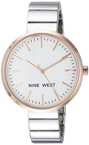 Nine West Women's Silver-Tone Bracelet Watch