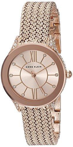 Anne Klein Women's Swarovski Crystal Accented Rose Watch