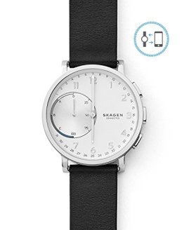Skagen Connected Men's Hagen Stainless Steel and Leather Hybrid Smartwatch