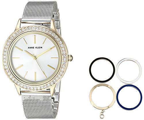 Anne Klein Women's Two-Tone Bracelet Watch and Interchangeable Bezel Set