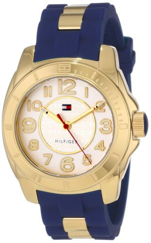 Tommy Hilfiger Women's Casual Sport Gold-Plated Case Watch