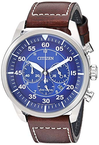 Citizen Men's Avion Stainless Steel Quartz Leather Calfskin Strap