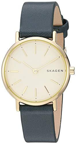 Skagen Women's Signatur Stainless Steel Analog-Quartz Leather Strap Watch