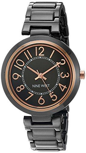 Nine West Women's Easy To Read Dial Gunmetal Bracelet Watch