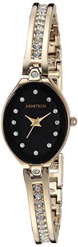 Armitron Women's Swarovski Crystal-Accented Gold-Tone Bangle Watch