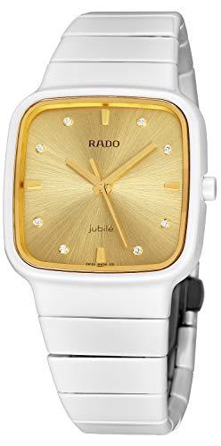 Rado Watch R5.5 Ladies - Gold Dial White Ceramic Case Quartz Movement