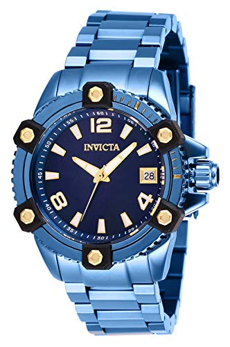 Invicta Women's Pro Diver Quartz Stainless-Steel Strap, Blue, 20 Casual Watch