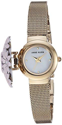 Anne Klein Women's Swarovski Crystal Accented Floral Covered Watch
