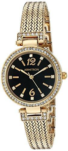 Armitron Women's Swarovski Crystal Accented Gold-Tone Mesh Bracelet Watch