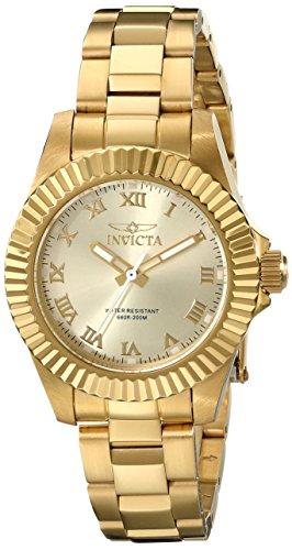 Invicta Women's Pro Diver Analog Display Swiss Quartz Gold Watch