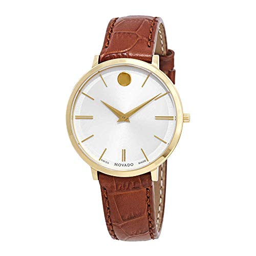 Movado Ultra Slim White Dial Ladies Watch