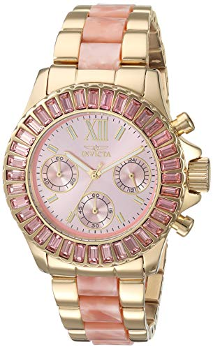 Invicta Women's Angel Quartz Watch with Gold-Tone-Stainless-Steel Strap
