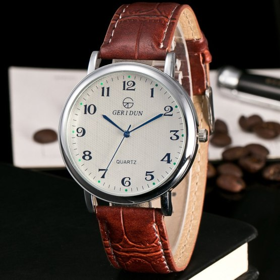 2017 New Luxury Mens Watches Super Soft Leather Clock Men Date Watches