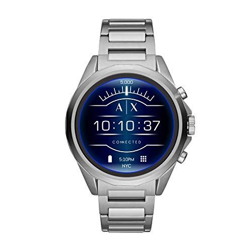 Armani Exchange Men's Stainless Steel Touchscreen Smartwatch