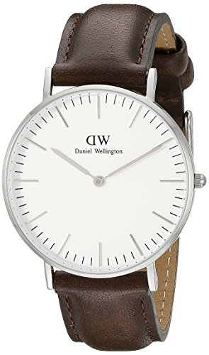 Daniel Wellington Women's Bristol Stainless Steel Watch with Leather Band