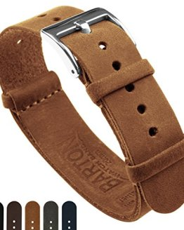 Barton Leather NATO Style Watch Straps - Choose Color, Length & Width