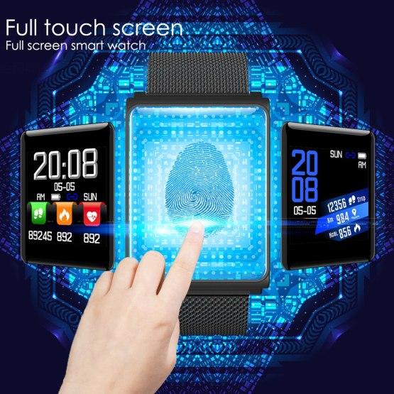 SANDA Silicone & Mesh Smart Watch N98 IP67 Waterproof Heart Rate Monitor