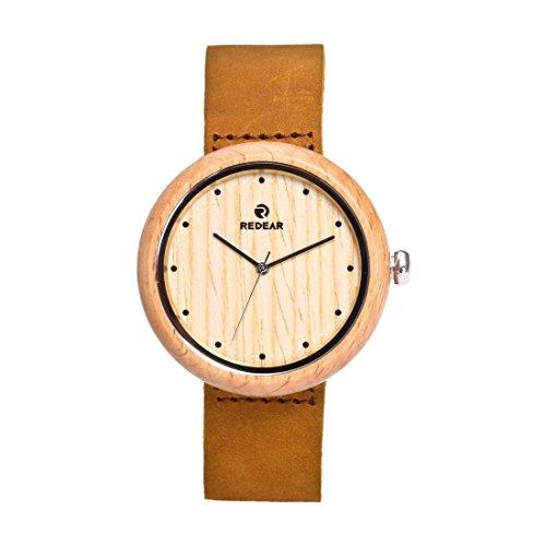 Maple Handmade Wooden Women's Big Size Vintage Wrist Watches