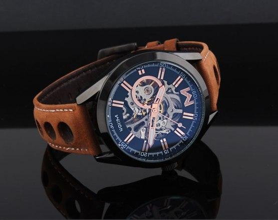 Fashion Brand Designer Men Skeleton Automatic Watches Self Winding