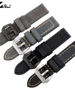 Thick watch band Genuine leather watchband 20mm 22mm 24mm 26mm