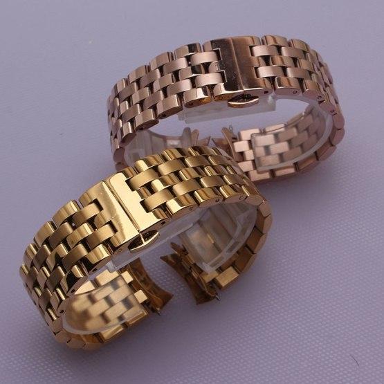 Curved ends watchbands strap bracelet rose gold Watch bands