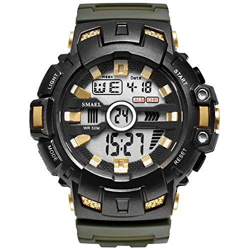 WATCHES FOR MEN Mens Watches Men Digital Analogue Waterproof Military