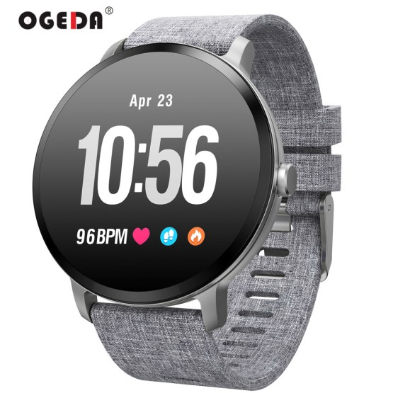 Smart watch waterproof Tempered glass Activity Fitness tracker Heart rate