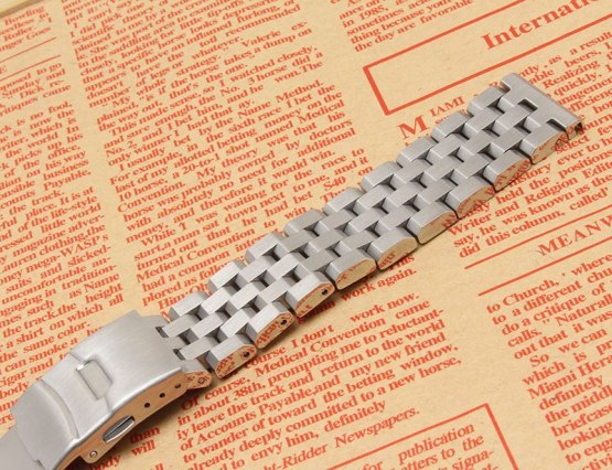 Silver watchband bracelet strap 18mm 20mm 22mm 24mm 26mm