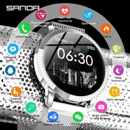 Fashion Sport Smart Watch Women Waterproof Heart Rate Monitor