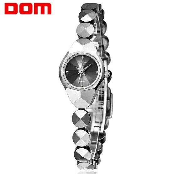 Woman DOM Mini Watch Tungsten Steel Quartz Luxury Top Brand Waterproof