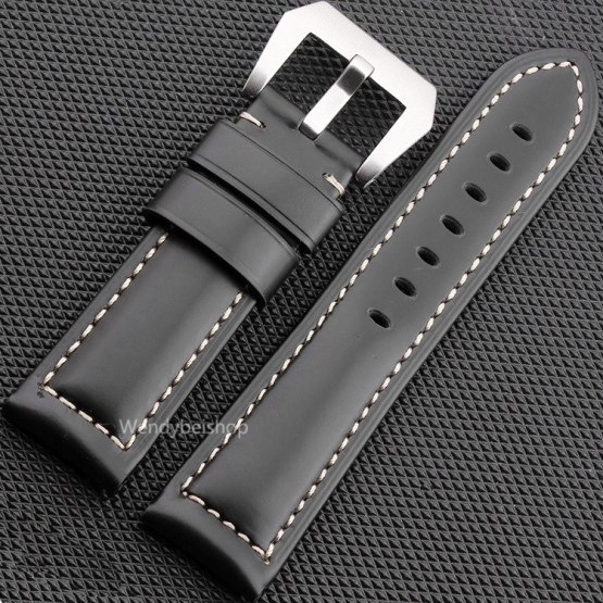 22 24 26mm Newest Men Women Black Brown Real Leather Handmade Watch