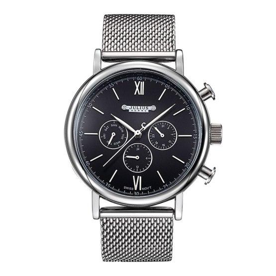 New Julius Men's Homme Wrist Watch Fashion Hours Dress Bracelet
