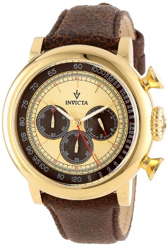 Invicta Men's Vintage Gold-Tone Stainless Steel Watch