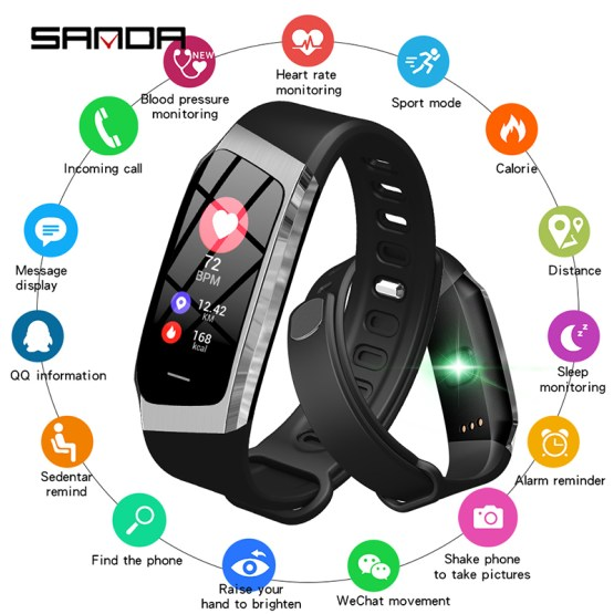 New Top Brand Sport Smart Watch Men Fitness Tracker Heart Rate Blood Pressure