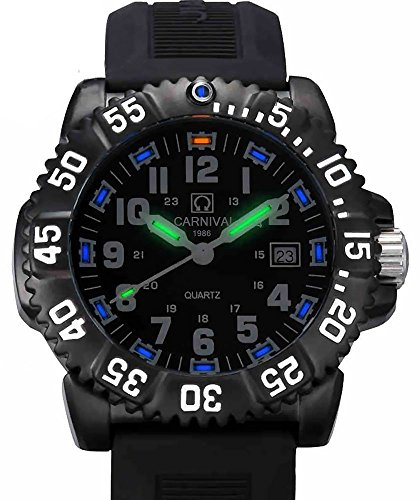 Gosasa Men's Tritium luminous Watch Rotatable Bezel Navy SEAL