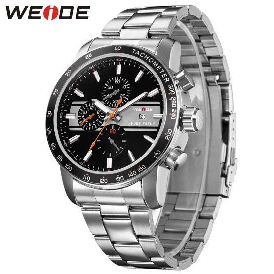 wiede business quartz sports wrist watch casual genuine man watch