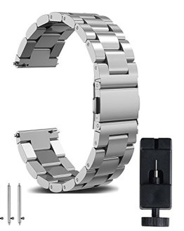 22mm Watch Band, amBand Quick Release Premium Solid Stainless Steel