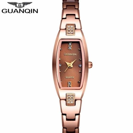 GUANQIN Luxury Brand Tungsten Steel Watches Women Quartz