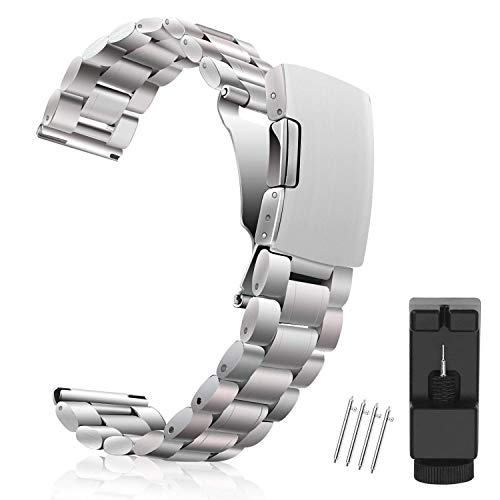 Vetoo Watch Bands 20mm Strap, Silver, for Huawei Watch 2