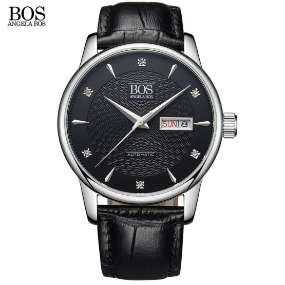 ANGELA BOS Business 2018 Automatic Date Men Watch Mechanical Wrist Watch