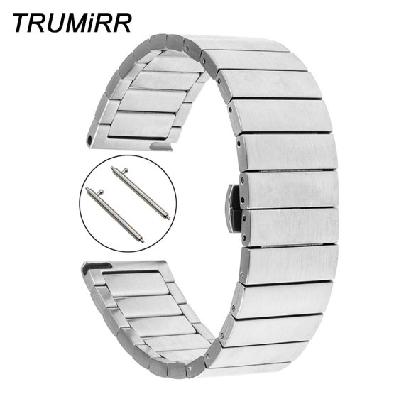 Quick Release Stainless Steel Band for Pebble Time Round Men Huawei Watch
