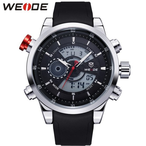 WEIDE Fashion Watches Men Luxury Brand Quartz Hour Analog Digital Sports