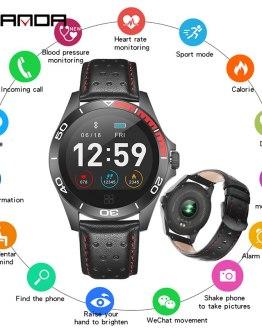 SANDA Heart Rate Monitor Smart Watch Men Sport Bluetooth Smartwatch