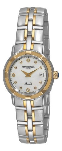 Raymond Weil Women's Parsifal Diamond Accented 18k Gold-Plated Watch
