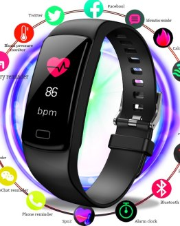 BANGWEI Smart Watch Men Women Smart wristband Heart rate