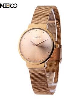 Time100 Women Quartz Watches Analog ultrathin Case Mesh Belt Strap